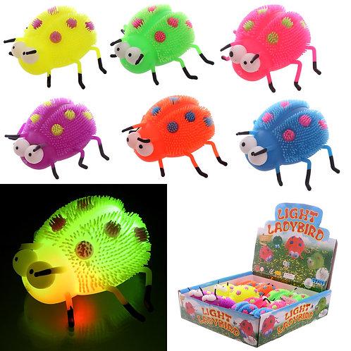 Fun Kids Light Up Squidgy Ladybird Puff Pet Novelty Gift