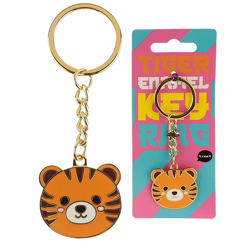 Fun Collectable Cute Tiger Enamel Keyring Novelty Gift