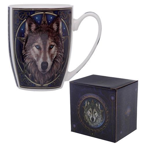 Fantasy Wolf Head Design Porcelain Mug Novelty Gift
