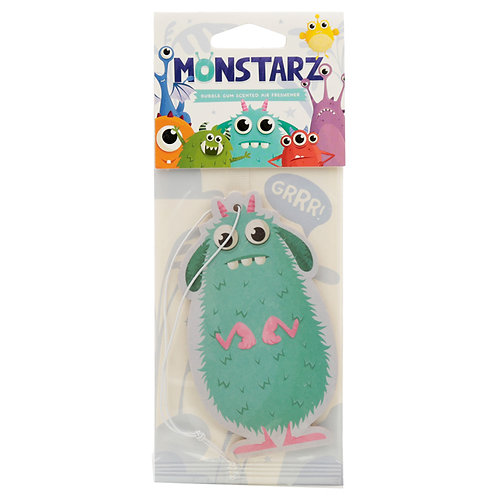 Turquoise Monstarz Monster Bubble Gum Scented Air freshener [Qty 2] Novelty Gift