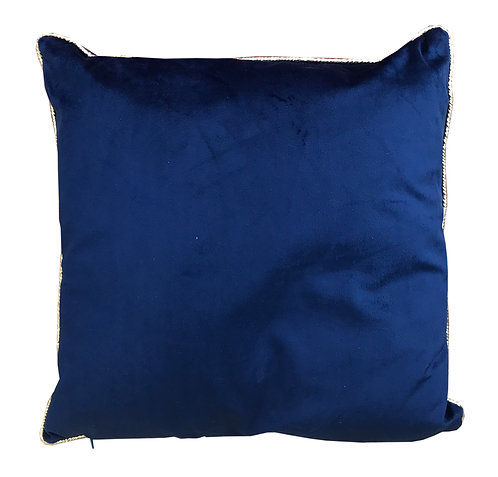 Deep Blue Velvet Cushion Shipping furniture UK