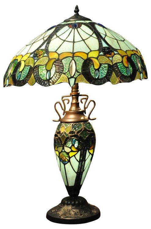 Multi Colour Double Tiffany Lamp Shipping furniture UK