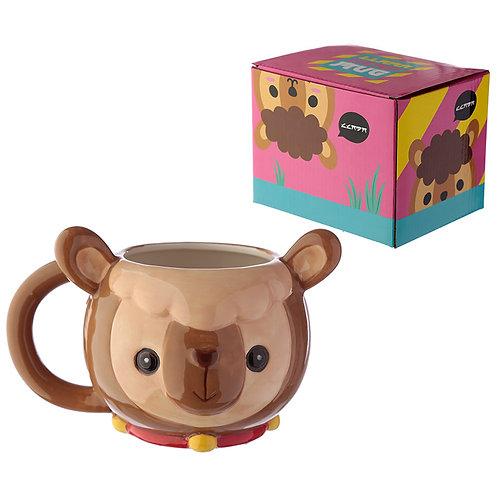Ceramic Animal Shaped Head Mug - Llama Novelty Gift