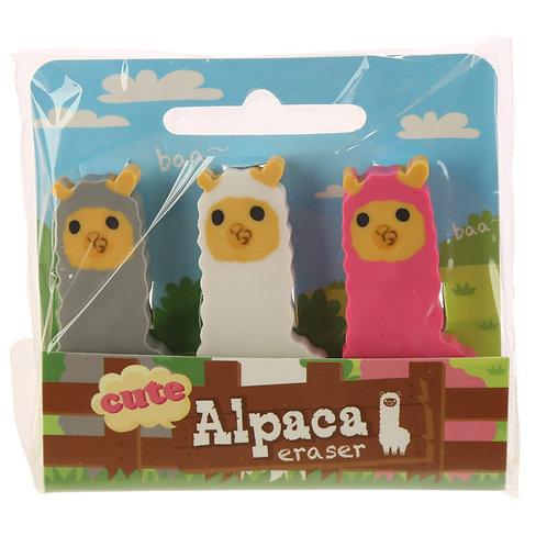 Rubbers For School Alpaca Eraser Set of 3