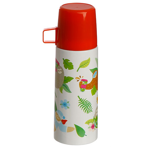 Funky 350ml Flask - Sleepy Sloth Novelty Gift