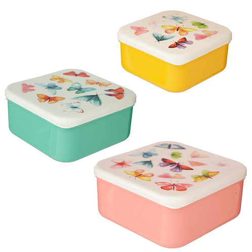 Butterfly House Set of 3 Lunch Boxes (M/L/XL) Novelty Gift