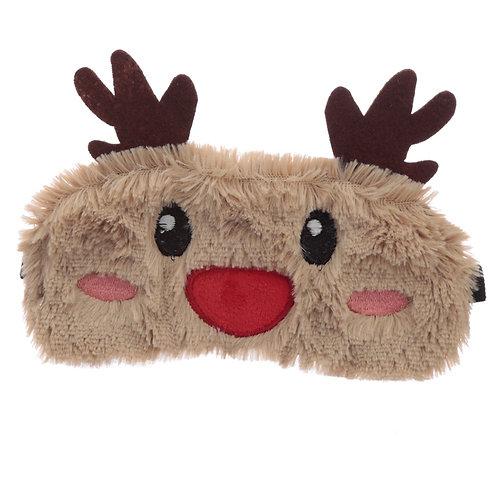 Fun Eye Mask - Plush Christmas Reindeer Novelty Gift