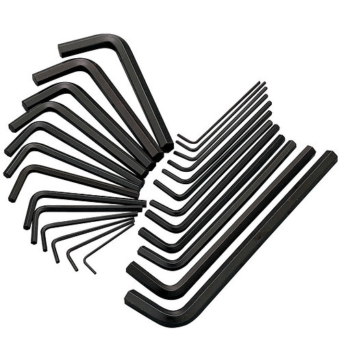Clarke CHT100 25-Pce AF/Metric HEX key set | DIY Bargains