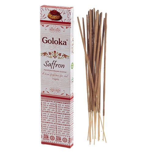 Goloka Masala Incense Sticks - Saffron Novelty Gift