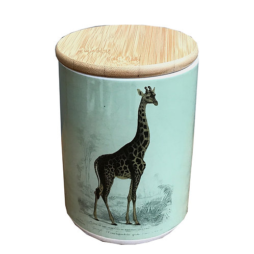 Ceramic Canister With Giraffe Shipping furniture UK