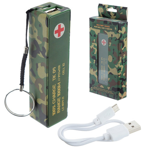 Handy Portable USB Power Bank - Camouflage Design Novelty Gift