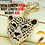 Leopard Rhinestone Metal Key Chains for Purse Jewellery Accessory