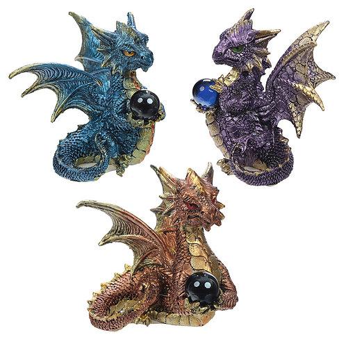 Elements Crystal Enchanted Nightmare Dragon Figurine Novelty Gift