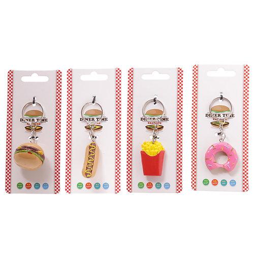 Novelty Keyring - Fast Food Designs Novelty Gift