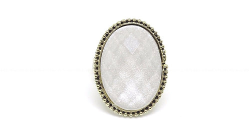 Ladies Gold and White Ring (One Size)