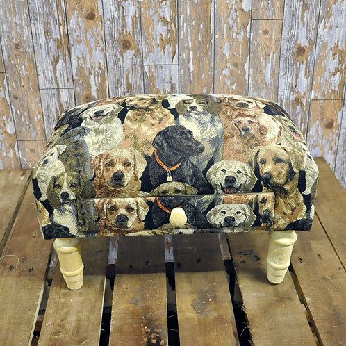 Dogs Footstool with Drawer Shipping furniture UK
