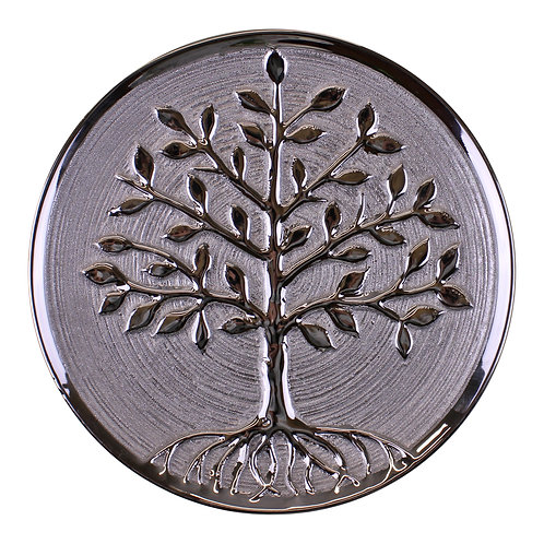 Ceramic Silver Tree Of Life Plate Shipping furniture UK