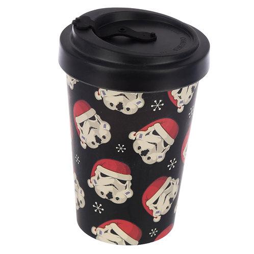 Bamboo Composite Stormtrooper Christmas Screw Top Travel Mug Novelty Gift
