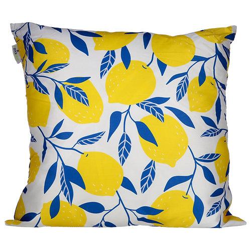 Cushion with Insert - Lemons Design 50 x 50cm Novelty Gift