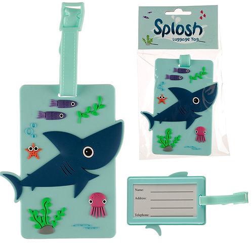 Fun PVC Luggage Tag - Shark Design Novelty Gift