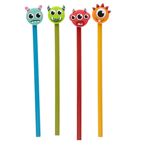 Fun Monster Monstarz Novelty Pencil with PVC Top [Pack of 2] Novelty Gift