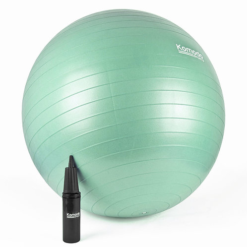 65cm Yoga Exercise Ball - Green | Home Essentials UK