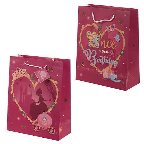 Happy Birthday Princess Design Large Gift Bag Novelty Gift