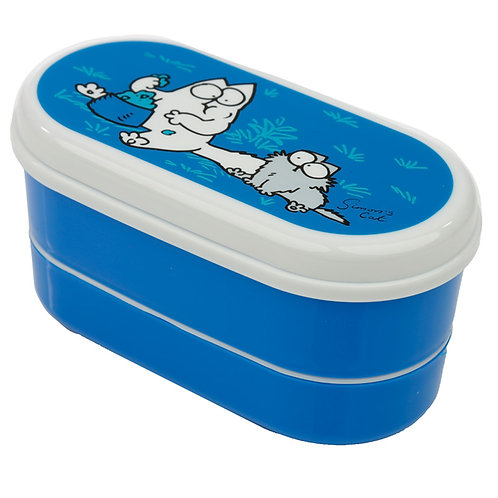 Bento Lunch Box with Fork & Spoon - Simon's Cat Novelty Gift