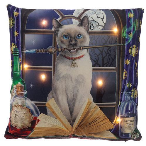 Decorative LED Cushion - Lisa Parker Hocus Pocus Cat Novelty Gift