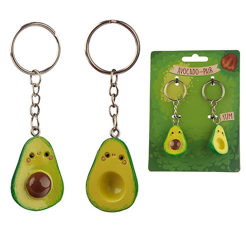 Fun Collectable Set of 2 Avocado Keyrings [Pack of 2] Novelty Gift