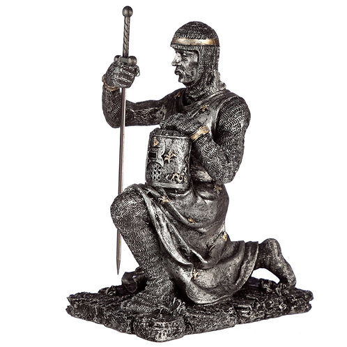 Collectable Kneeling Knight Figurine Novelty Gift