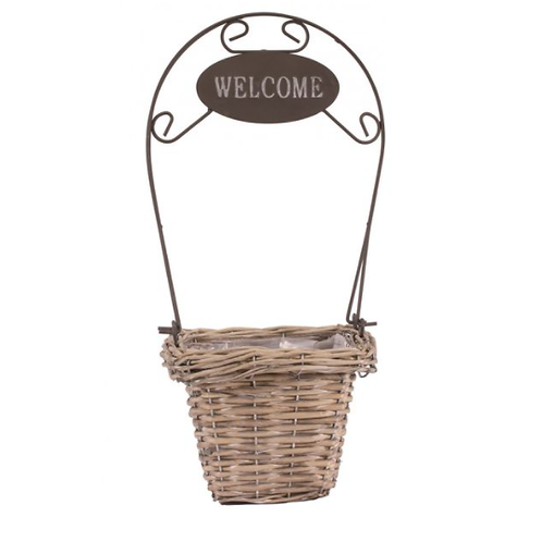 Square Grey-wash Welcome Basket 13cm | Florist Sundries Supplies and Events UK