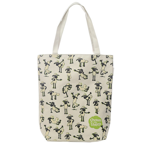 Handy Cotton Zip Up Shopping Bag - Shaun the Sheep Novelty Gift