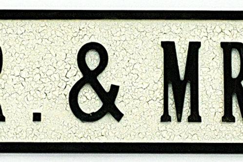 Mr. & Mrs. Street Sign 80cmx15cmx1.5cm Shipping furniture UK