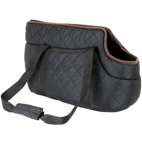 Black Quilted Pet Carrier | Home Essentials UK