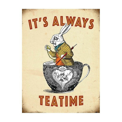 Its Always Teatime Extra Large Metal Sign, 40cm Shipping furniture UK