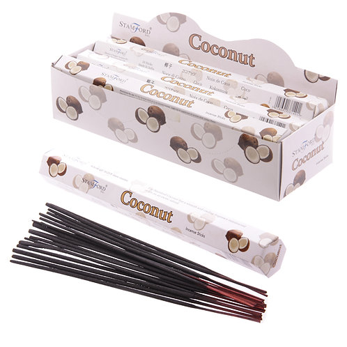 Stamford Hex Incense Sticks - Coconut Novelty Gift