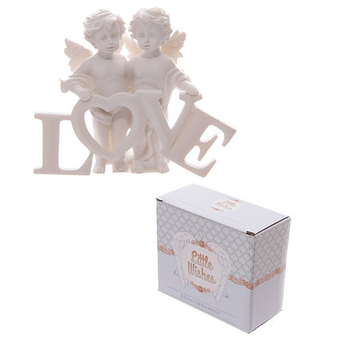 Cute LOVE Letters Cherub Couple Novelty Gift