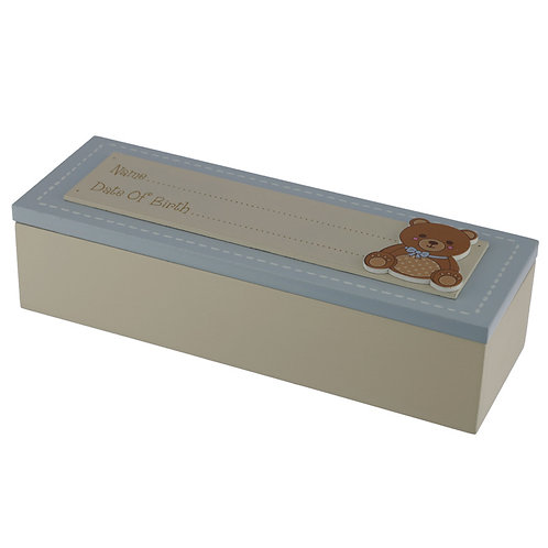 Baby Boy Keepsake Box - Date of Birth Novelty Gift