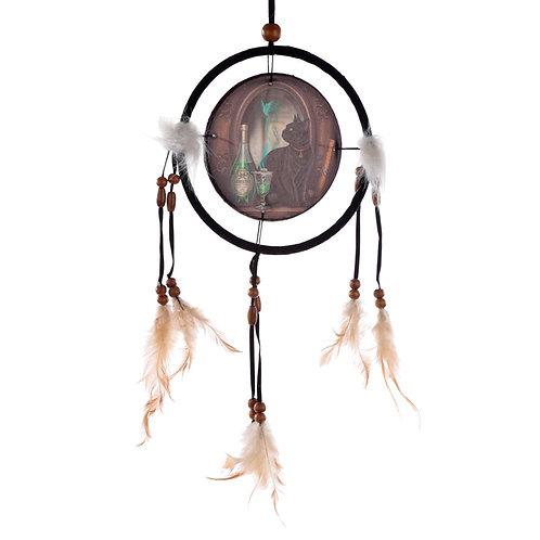 Decorative Lisa Parker Absinthe Cat Dreamcatcher Small Novelty Gift
