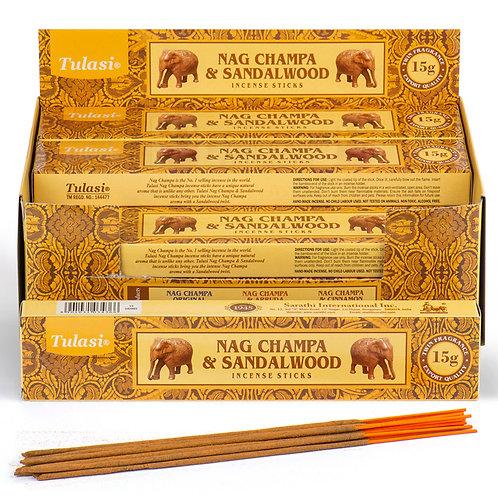 Nag Champa Tulasi Incense Sticks - Sandalwood Novelty Gift