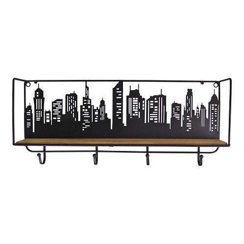 City Skyline Shelf Unit With 4 Hooks Shipping furniture UK