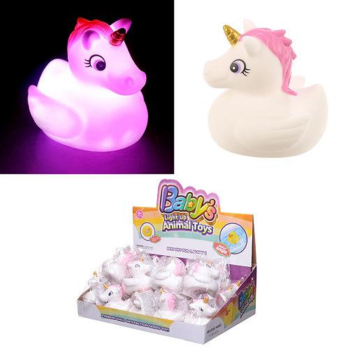 Fun Kids Light Up Unicorn Bath Time Toy Novelty Gift