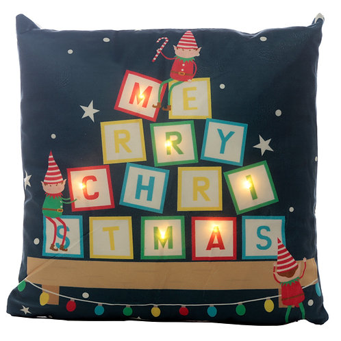 Decorative LED Cushion - Christmas Elf Novelty Gift