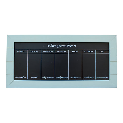 67x32 Chalkboard Week Planner, Green Shipping furniture UK
