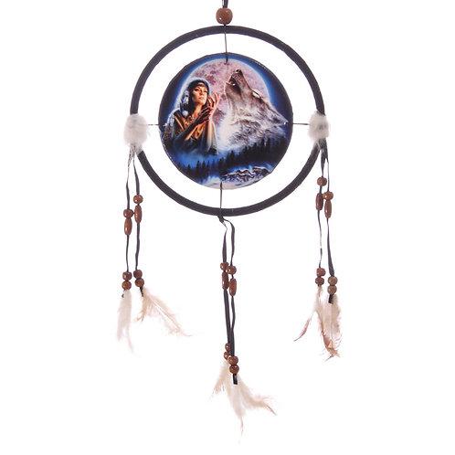 Decorative Midnight Wolf Moon 16cm Dreamcatcher Novelty Gift