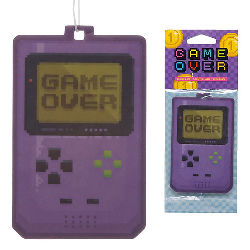 Retro Gaming Bubblegum Scented Game Over Air Freshener Novelty Gift