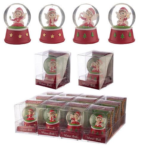 Festive Collectable Christmas Fairy Snow Globe Novelty Gift