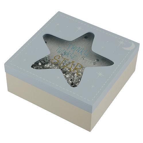 Baby Boy Keepsake Box - Twinkle Twinkle Star Novelty Gift