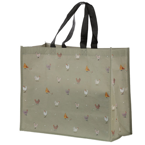 Chickens Willow Farm Recycled Plastic Reusable Shopping Bag Novelty Gift